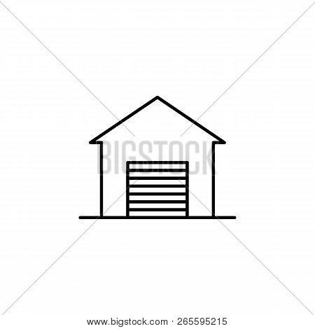 Building, Garage Outline Icon. Element Of Architecture Illustration. Premium Quality Graphic Design