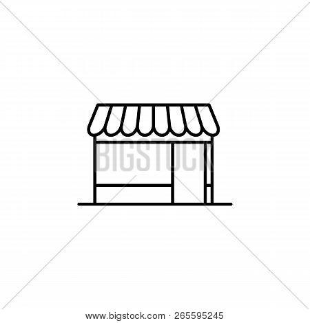 Building, Shop Outline Icon. Element Of Architecture Illustration. Premium Quality Graphic Design Ou