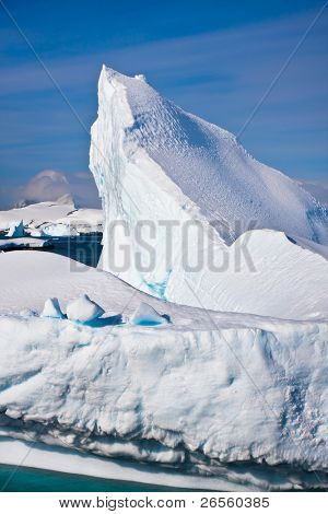 Antarctic glacier in the snow poster