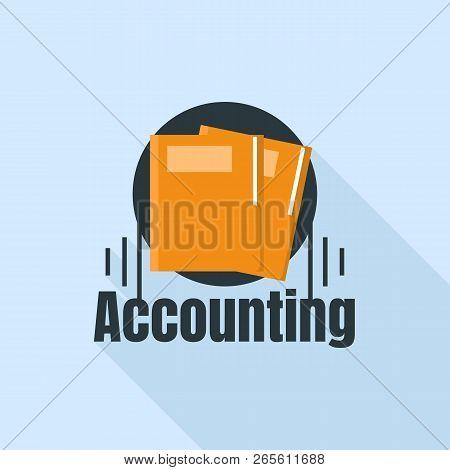 Accounting Folder Logo. Flat Illustration Of Accounting Folder Vector Logo For Web Design