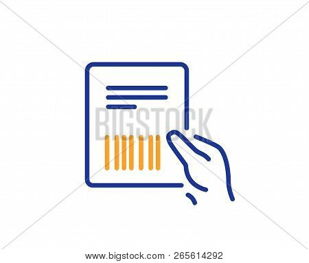 Parcel Invoice Line Icon. Delivery Document Sign. Package Shipping Symbol. Colorful Outline Concept.