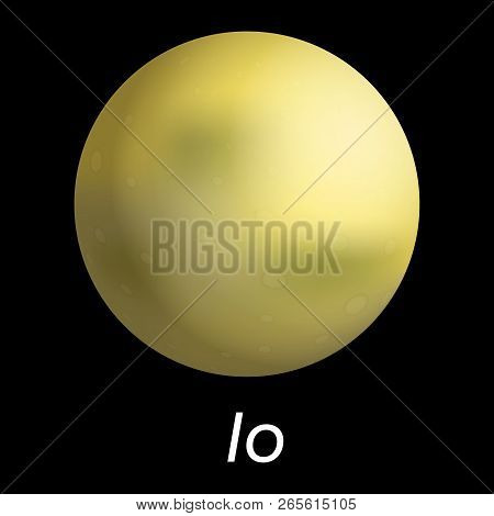 Space Io Icon. Realistic Illustration Of Space Io Vector Icon For Web Design