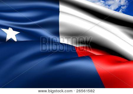 Flag Of Texas, Usa.
