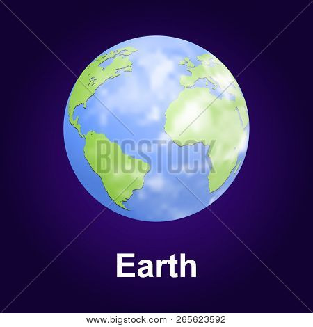 Earth Planet Icon. Isometric Of Earth Planet Vector Icon For Web Design