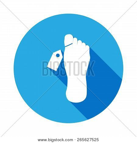 Mortuary Vector Icon With Long Shadow. Element Of Kind Or Way Of Suicide Death Illustration. Signs A