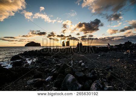 Ilheos Dos Mosteiros On Sao Miguel Azores. Mosteiros Beach.