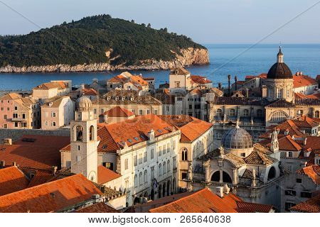 Dubrovnik, Croatia, Known As The Pearl Of The Adriatic, One Of The Most Prominent Tourist Destinatio