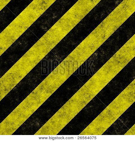 Yellow and black diagonal hazard stripes seamless texture