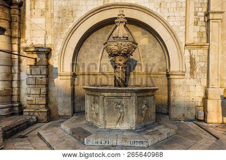 Small Onofrio's Fountain In Dubrovnik, Croatia.