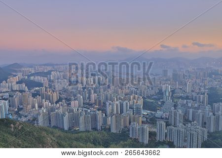 Cityscape View From The Lion Rock At Day