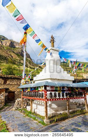 Prayer Wheels In Manang Village, Annapurna Conservation Area, Nepal