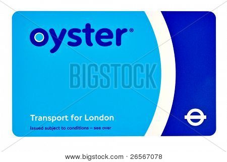 LONDON-FEBRUARY 28:A TFL Oyster Card February 28, 2011 in London.An estimated 3.6 million travelers a year are being incorrectly fined for not touching their Oyster cards in or out properly