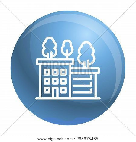 Ecologic House Icon. Outline Ecologic House Vector Icon For Web Design Isolated On White Background