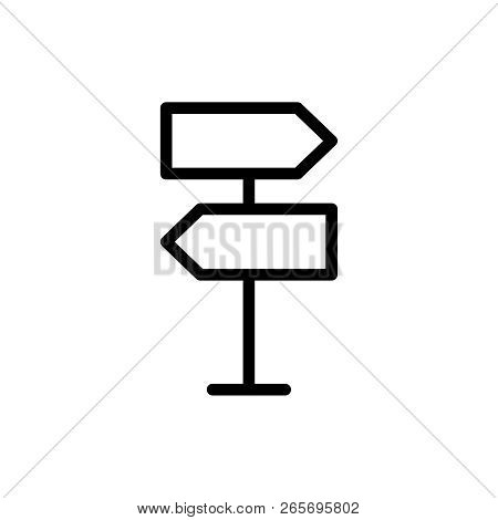 Road Sign Flat Icon. Single High Quality Outline Symbol Of Info For Web Design Or Mobile App. Thin L