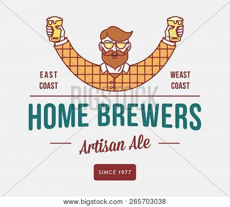 Beer Home Brewers Is A Vector Illustration About Drinking