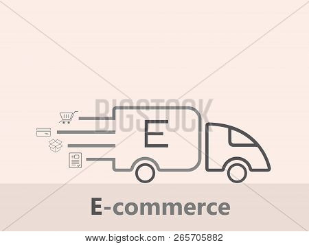 Ecommerce Marketing Concepts Vector. Ecommerce Logo Design