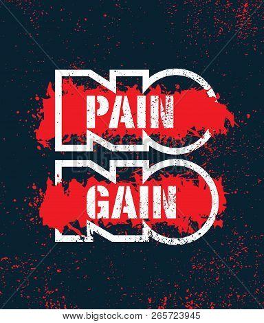 No Pain No Gain Vector Photo Free Trial Bigstock