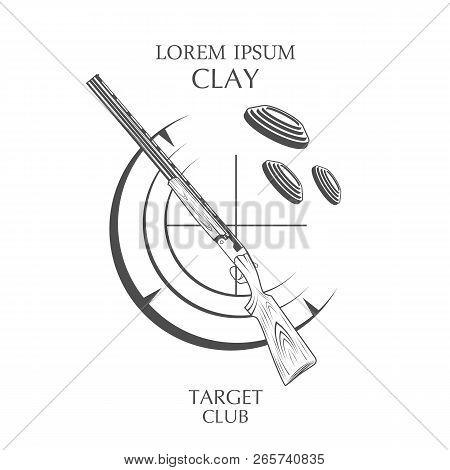 Vintage Clay Target And Gun Club Labels. Sporting Clay Skeet