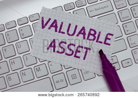 Conceptual Hand Writing Showing Valuable Asset. Business Photo Text Your Most Valuable Asset Is Your