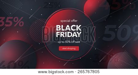 Black Friday Sale. Social Media Web Banner For Shopping, Sale, Product Promotion. Template In A Fash