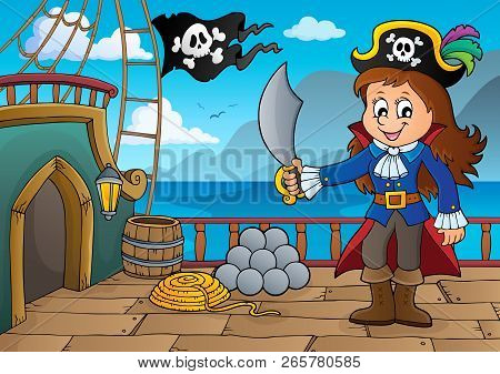 Pirate Ship Deck Topic 7 - Eps10 Vector Illustration.