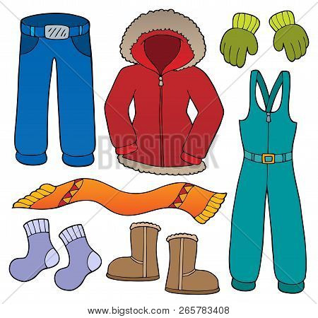 Winter Clothes Topic Set 1 - Eps10 Vector Illustration.