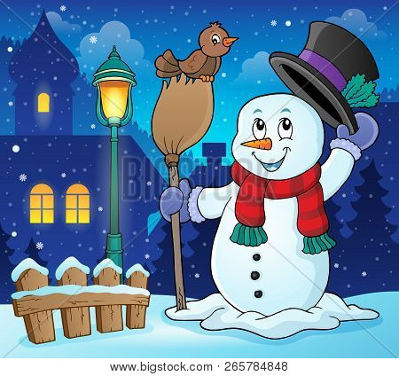Winter Snowman Subject Image 3 - Eps10 Vector Illustration.