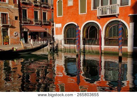 View Of Houses And Canal Street In The Old Town Venice Italy