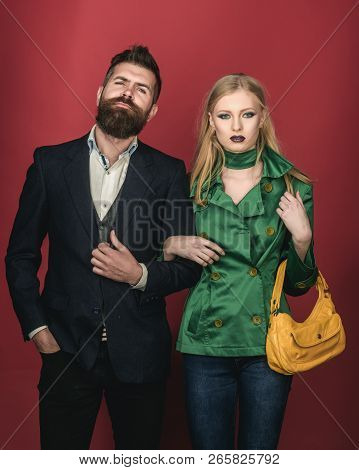 Romantic Couple. Autumn Fashion Trends. Love Relations. Couple In Love In Fashionable Style. Fashion