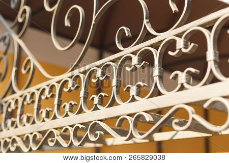 Beautiful Decorative Iron Wrought With Artistic Forging.
