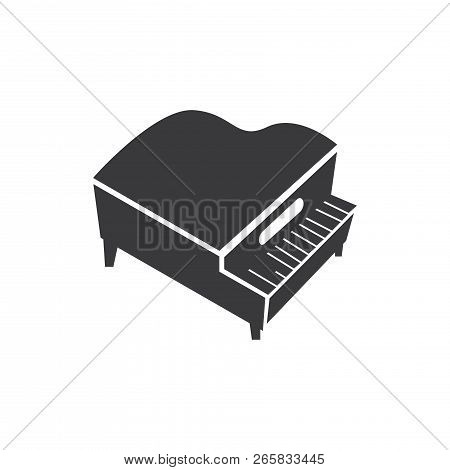 Grand Piano Vector Icon On White Background. Grand Piano Icon In Modern Design Style. Grand Piano Ve
