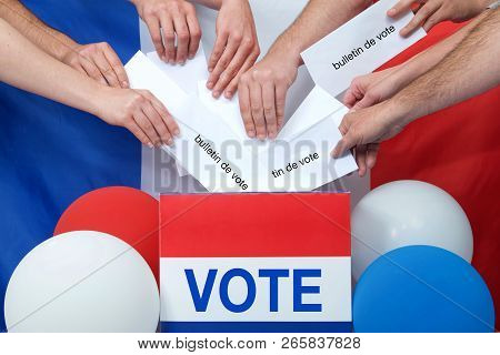 Ballot Box With Vote On Front And