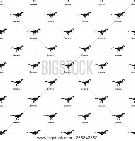 Carnotaurus Pattern Seamless Vector Repeat Geometric For Any Web Design