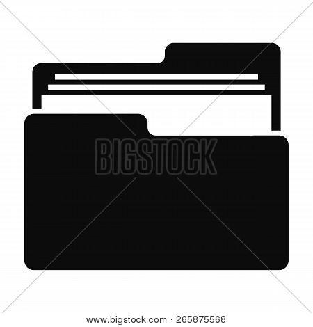 File Folder Icon. Simple Illustration Of File Folder Icon For Web Design Isolated On White Backgroun