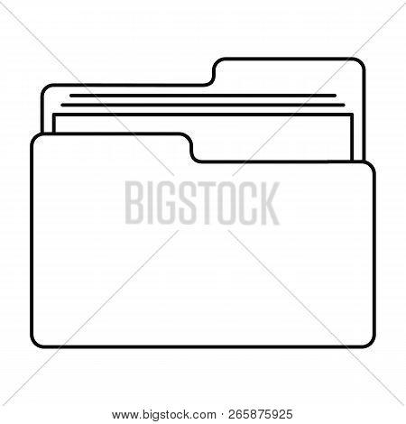 File Folder Icon. Outline Illustration Of File Folder Icon For Web Design Isolated On White Backgrou