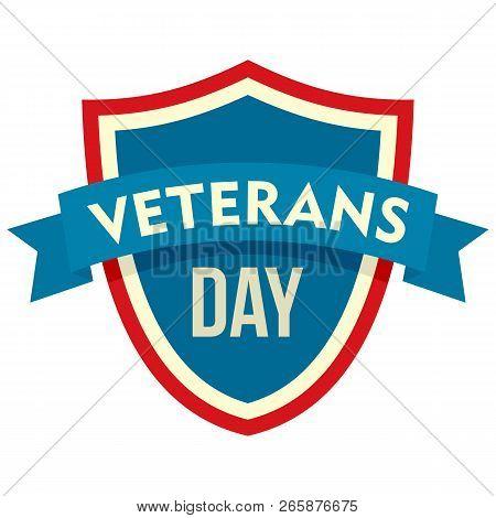 Parade Veterans Day Logo. Flat Illustration Of Parade Veterans Day Logo For Web Design