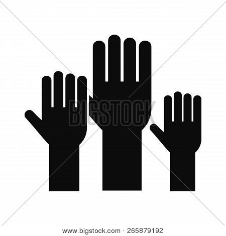 Vote Hands Icon. Simple Illustration Of Vote Hands Icon For Web Design Isolated On White Background