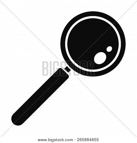 Find Solution Magnify Glass Icon. Simple Illustration Of Find Solution Magnify Glass Icon For Web De