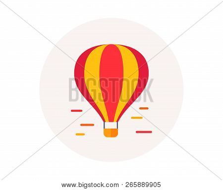 Air Balloon Icon. Airship Transportation. Delivery Transport By Air Of Goods And People. Balloon Air