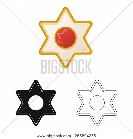 Vector Design Of Biscuit And Bake Sign. Set Of Biscuit And Chocolate Stock Vector Illustration.