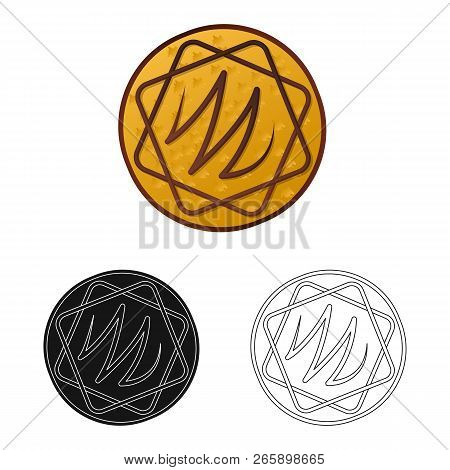 Vector Illustration Of Biscuit And Bake Icon. Set Of Biscuit And Chocolate Vector Icon For Stock.