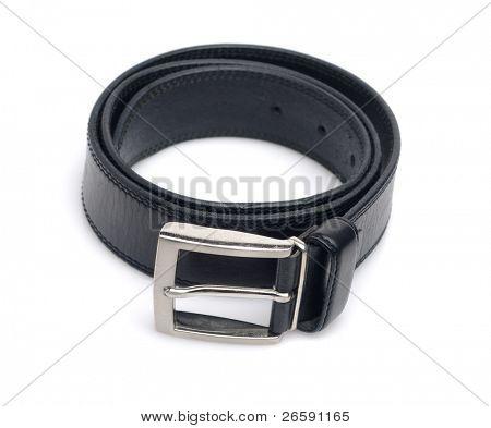 Men's belt. Isolated over white.