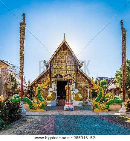 Wat Phra Singh Temple Is A Buddhist Temple Located In Chiang Rai, Northern Thailand. Landmark Of Chi