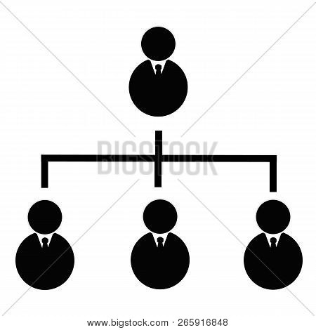 Business Hierarchical Icon On Transparent Background. Business Hierarchical Sign. Flat Style. Hierar