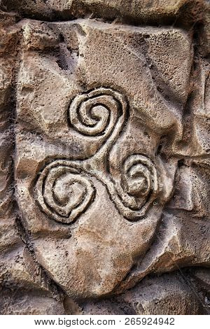Ancient Celtic Symbol, Detail Of Viking History