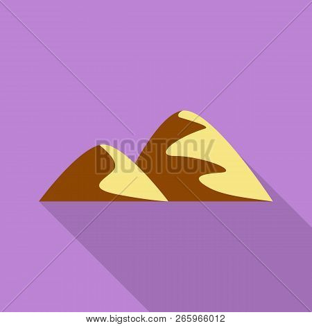 Two Hills Icon. Flat Illustration Of Two Hills Icon For Web Design