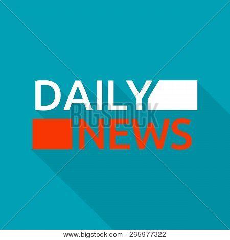 Daily News Logo. Flat Illustration Of Daily News Logo For Web Design