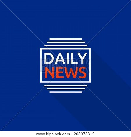 New Daily News Logo. Flat Illustration Of New Daily News Logo For Web Design