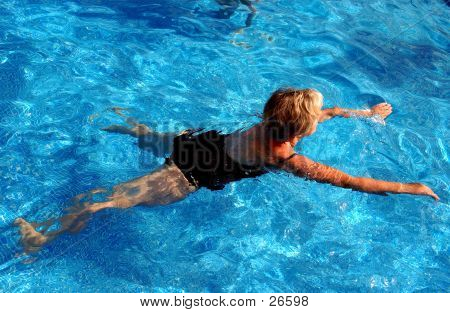 A Women Swimming
