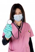 The nurse practicing the proper attire at work poster